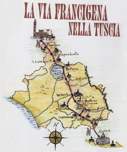 la tuscia-tour sites-la via francigena 1